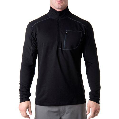 Tasc Performance Tahoe Fleece Long Sleeve 1/2 Zip Technical Tops - Black M