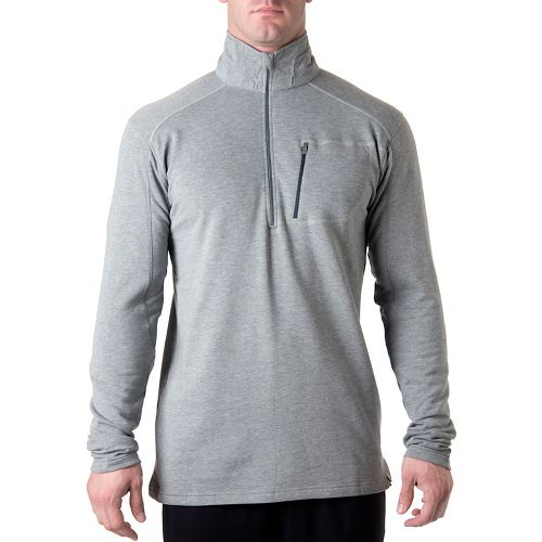 Tasc Performance Tahoe Fleece Long Sleeve 1/2 Zip Technical Tops - Heather Grey XL