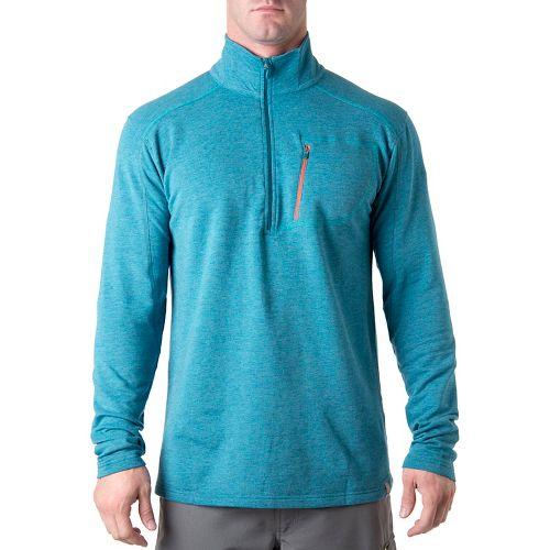 Tasc Performance Tahoe Fleece Long Sleeve 1/2 Zip Technical Tops - Marina Heather S