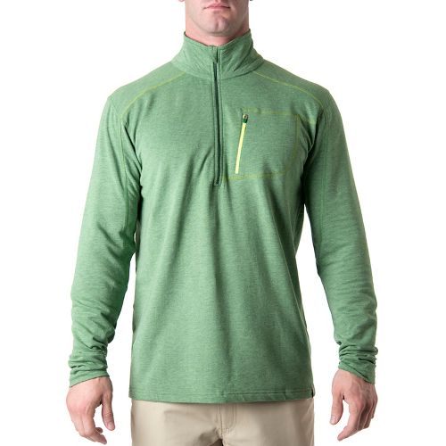 Tasc Performance Tahoe Fleece Long Sleeve 1/2 Zip Technical Tops - Mossy Heather M