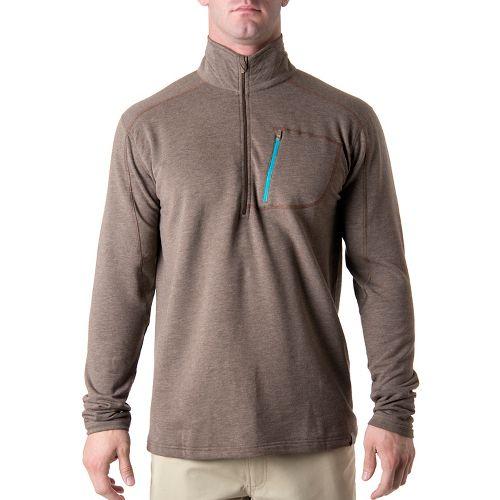 Tasc Performance Tahoe Fleece Long Sleeve 1/2 Zip Technical Tops - Timber Heather M