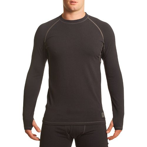 Mens Tasc Performance Base Layer Level B Long Sleeve No Zip Technical Tops - Gunmetal ...