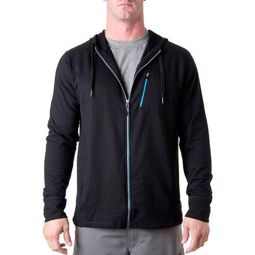 Mens Tasc Performance Elevate Fleece Full Zip Hood Warm-Up Hooded Jackets - Black XXL