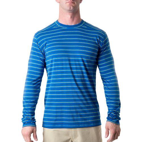 Mens Tasc Performance Waddington Merino Long Sleeve No Zip Technical Tops - Cobalt Stripe L ...