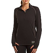 Womens Tasc Performance Base Layer Level B Long Sleeve 1/2 Zip Technical Tops