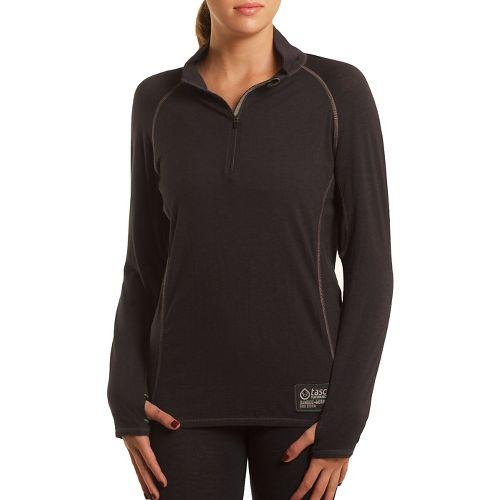 Womens Tasc Performance Base Layer Level B Long Sleeve 1/2 Zip Technical Tops - Gunmetal ...