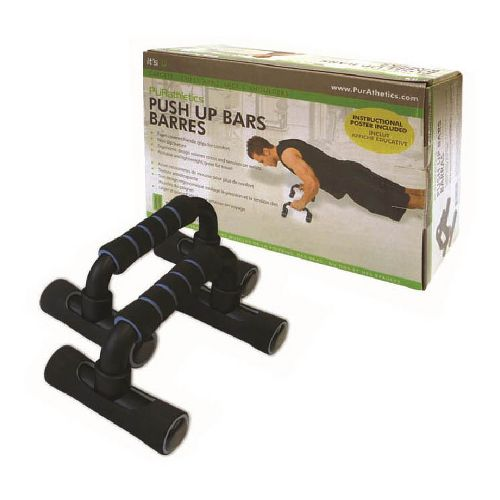 Trimax Push-up Bars Fitness Equipment - Black