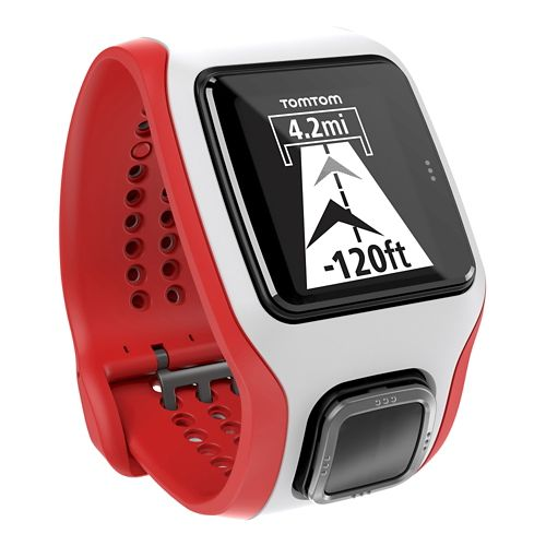 TomTom Runner Cardio GPS with Built in HRM Monitors - White/Red