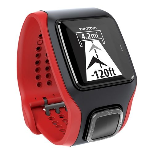 TomTom Multi-Sport Cardio GPS with Built in HRM Monitors - Black/Red
