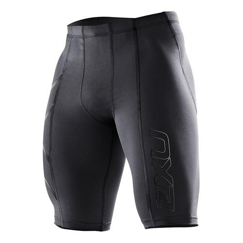 Mens 2XU Compression Fitted Shorts - Black/Nero L