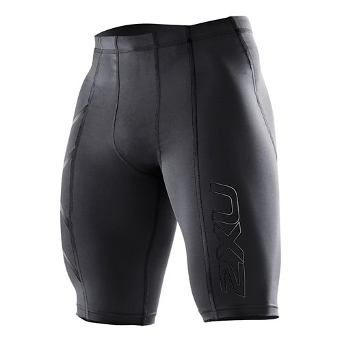 Mens 2XU Compression Fitted Shorts - Black/Nero XXL