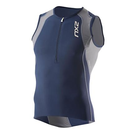 Mens 2XU Long Distance Tri Singlet Technical Tops