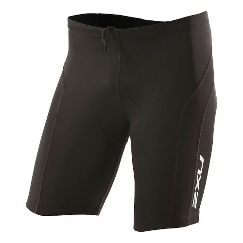 Mens 2XU Active Tri Short Fitted - Black/Black XS