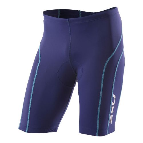 Mens 2XU Active Tri Short Fitted - Marine Blue/Coastal Blue M