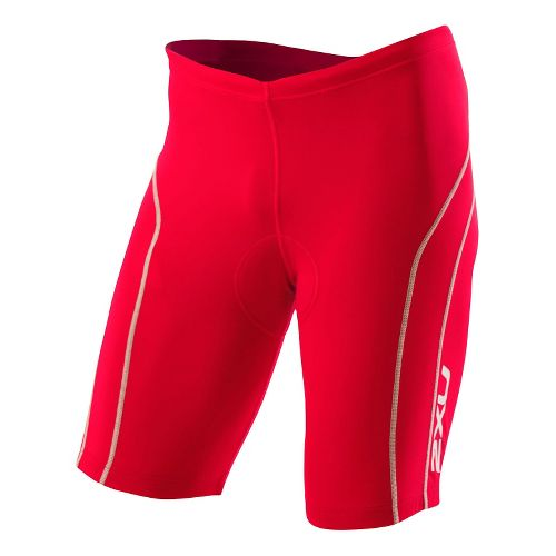 Mens 2XU Active Tri Short Fitted - Venere Red/Grey XL