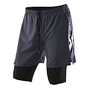 Mens 2XU Compression X Run Short 2-in-1
