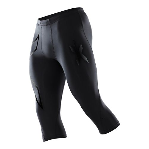 Mens 2XU Compression 3/4 Capri Tights - Black/Nero XL-T