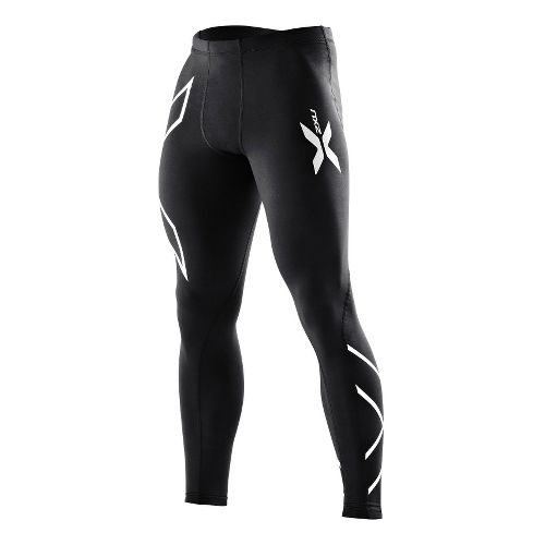 Mens 2XU Compression Tights Fitted - Black/Black XL