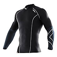 Mens 2XU Elite Compression Long Sleeve Top No Zip Technical Tops