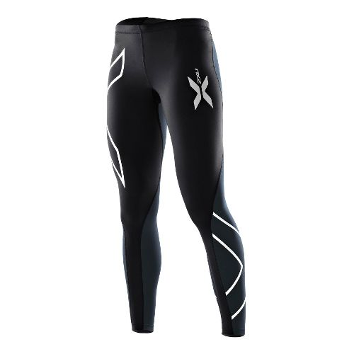 Womens 2XU Elite Compression Tights Fitted - Black/Steel L