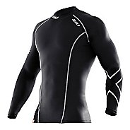 Mens 2XU Long Sleeve Compression Top No Zip Technical Tops