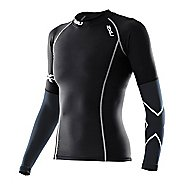 Womens 2XU Elite Long Sleeve Compression Top No Zip Technical Tops