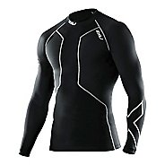 Mens 2XU Recovery Compression Long Sleeve Top No Zip Technical Tops