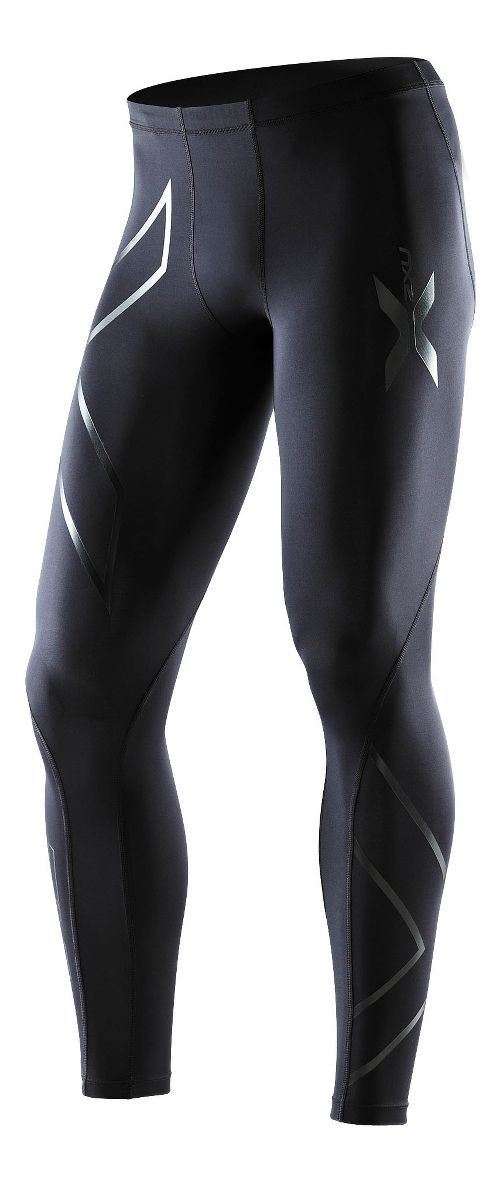 Mens 2XU Recovery Compression Tights Fitted - Black/Black L-T