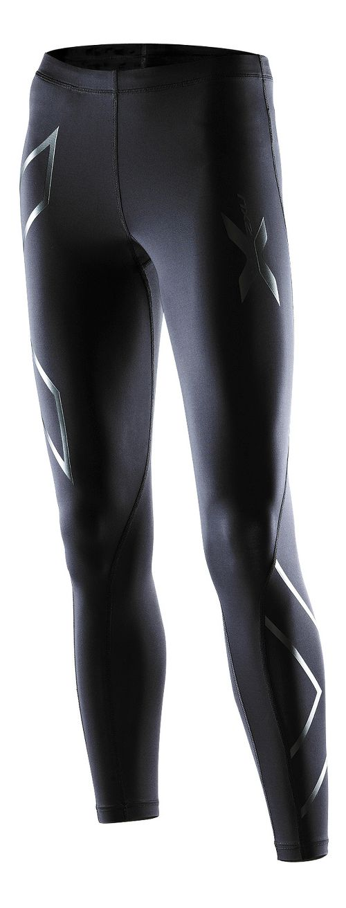 Womens 2XU Recovery Compression Tights Fitted - Black/Black XL