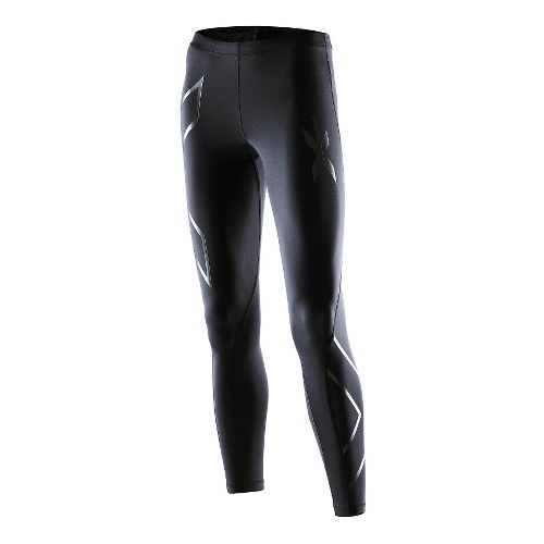 Womens 2XU Recovery Compression Tights Fitted - Black/Black S-T