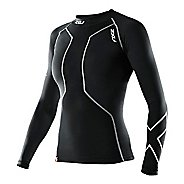 Womens 2XU Recovery Long Sleeve Compression Top No Zip Technical Tops