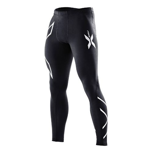 Mens 2XU Thermal Compression Tights Fitted Tights - Black/Black XL