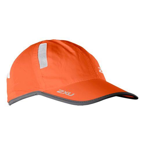 2XU Run Cap Headwear - Blaze Orange/Charcoal