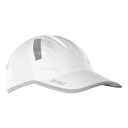 2XU Run Cap Headwear - White/Grey