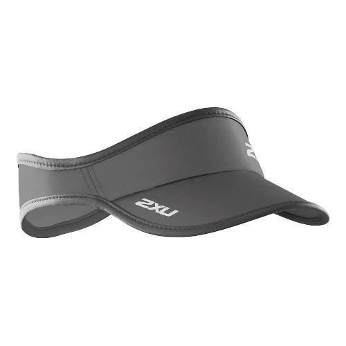 2XU Run Visor Headwear - Moon Grey/Ink