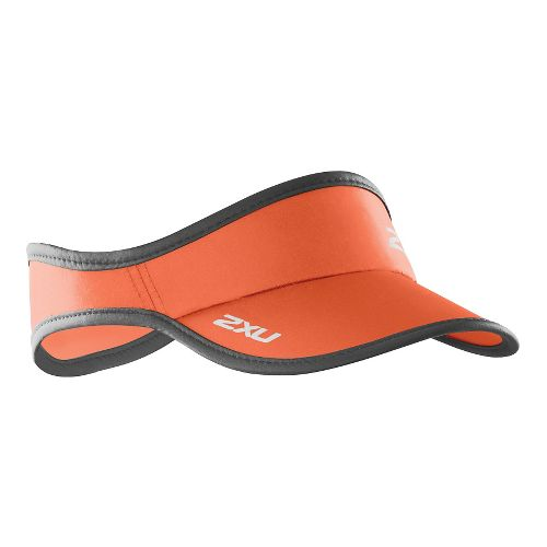 2XU Run Visor Headwear - Orange/Ink