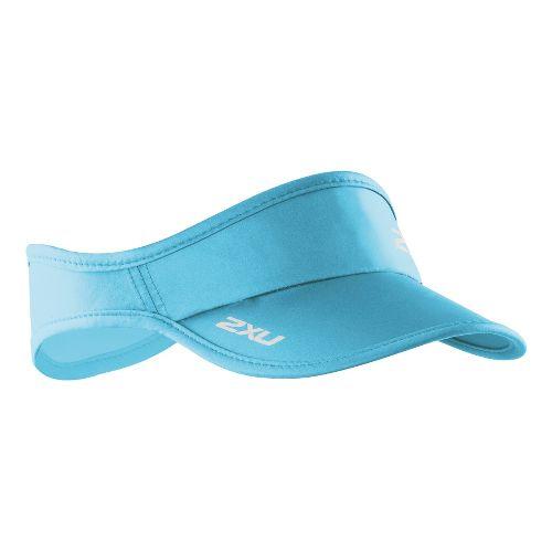 2XU Run Visor Headwear - Light Blue/Light Blue
