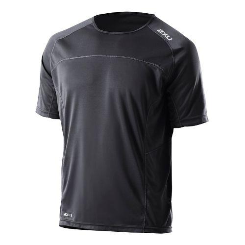 Mens 2XU Tech Speed X Run Short Sleeve Technical Tops - Black/Black L