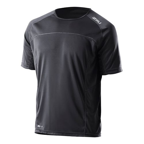 Mens 2XU Tech Speed X Run Short Sleeve Technical Tops - Black/Black XL
