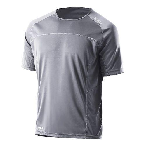Mens 2XU Tech Speed X Run Short Sleeve Technical Tops - Charcoal/Charcoal L