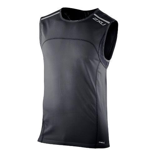 Mens 2XU Men's Gym Singlet Technical Tops - Black S