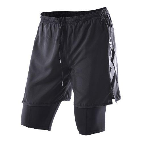 Womens 2XU Compression X Run Lined Shorts - Black/Black M