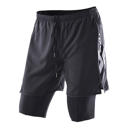 Womens 2XU Compression X Run Lined Shorts - Black/Black XL