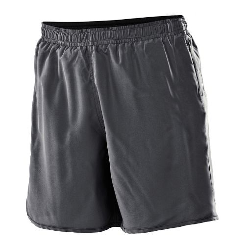 Womens 2XU Run - Medium Leg Lined Shorts - Charcoal/Charcoal XL
