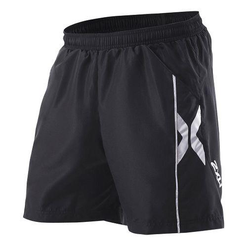 Mens 2XU Sport Short - Long Leg Lined Shorts - Black/Black XL