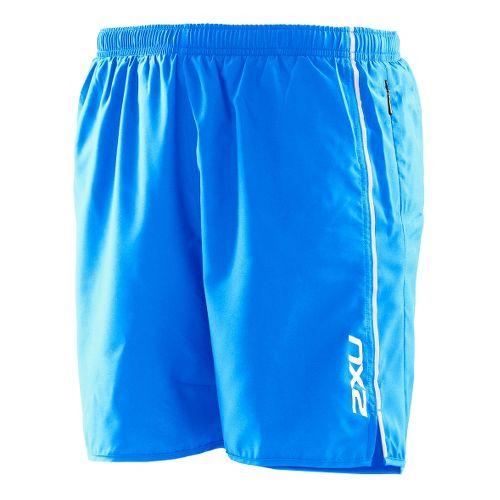 Mens 2XU Active Run Lined Shorts - Bright Blue/Bright Blue S