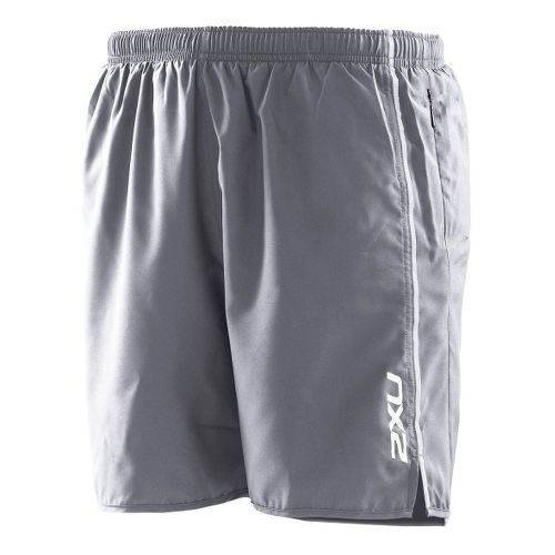 Mens 2XU Active Run Lined Shorts - Charcoal/Charcoal M