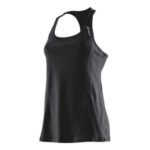 Womens 2XU Ice X Singlets Technical Tops - Black/Black L