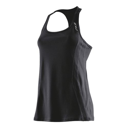 Womens 2XU Ice X Singlets Technical Tops - Black/Black S