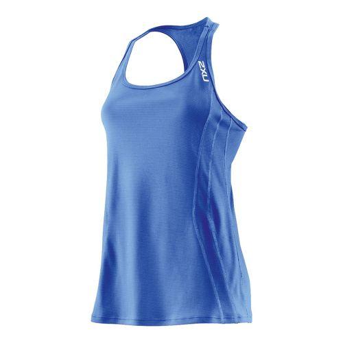 Womens 2XU Ice X Singlets Technical Tops - Catalina Blue/Catalina Blue M